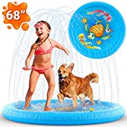 Inflatable Splash Pad Sprinkler for Kids Toddlers, Kiddie Baby Pool, Outdoor Games Water Mat Toys - Baby Infan