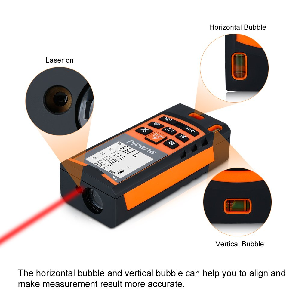 Telémetro láser Suaoki S9 - 60m por solo 35,99€