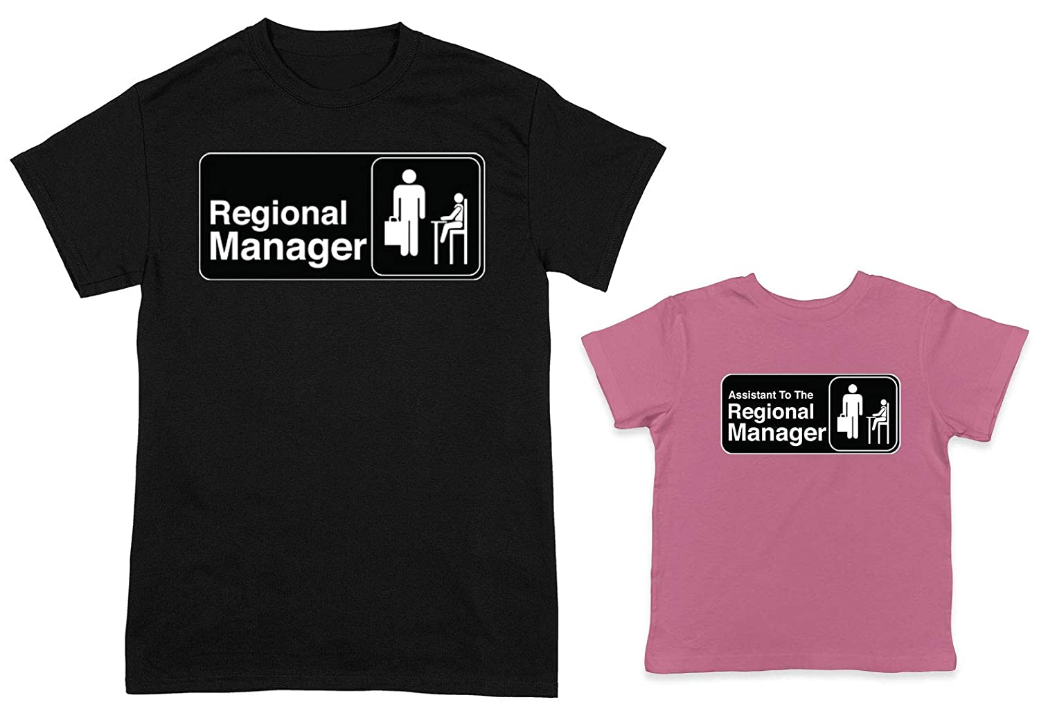 27655bba Amazon.com: HAASE UNLIMITED Regional Manager/Assistant 2-Pack Toddler &  Men's T-Shirt: Clothing