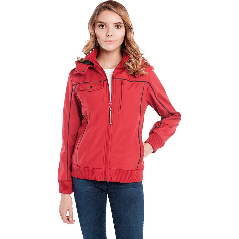 Baubax Travel Jacket - Bomber - Female - Red - Large
