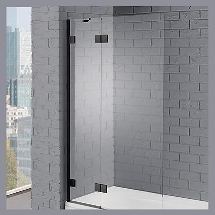 Bathroom Milano Portland 1400 X 800mm Curved Bath Shower Screen