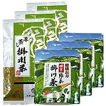 Japanese tea tea tea leaves Fukashi Kakegawa steamed tea 100g + Kakegawa tea powder 50g ~ 3 set