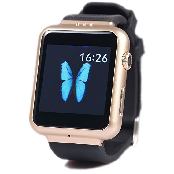 79cd44b035312 3G Smart Watch K8 watch New android 4.4 smartwatch with 2M pixels camera  GSM Wifi GPS BT FM 4G DDR2 memory Pedometer (Gold)  Amazon.ca  Watches