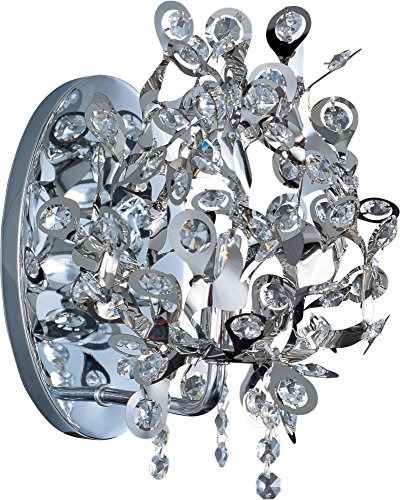 Maxim 24202BCPC Comet 1-Light Wall Sconce, Polished Chrome Finish, Beveled Crystal Glass, G9 Xenon Xenon Bulb , 100W Max., Dry Safety Rating, Standard Dimmable, Glass Shade Material, 1150 Rated Lumens Maxim Lighting Silver Chandelier