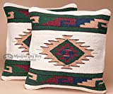 Mission Del Rey Pair Southwest Indian Style Pillow Covers -Pima Pattern