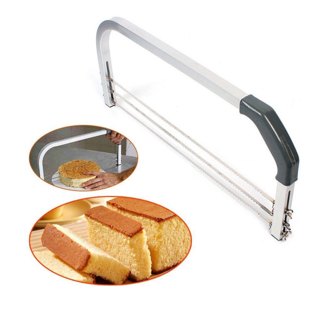 ケーキカッターSlicer Leveler、機能的キッチンBakingステンレススチール調節可能Layeredケーキカッター/スライサー/ Leveler   B07CNLY8B9