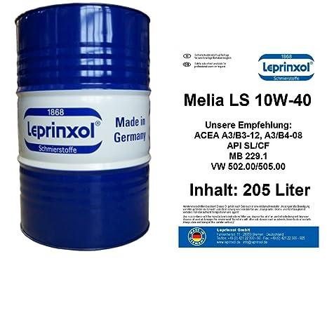 205 L Barril LML 10 W40 antifricción para golf Polo Passat Touran.lepri nxol Melia LS 10 W de cuentos 40 aceite semisintético ...