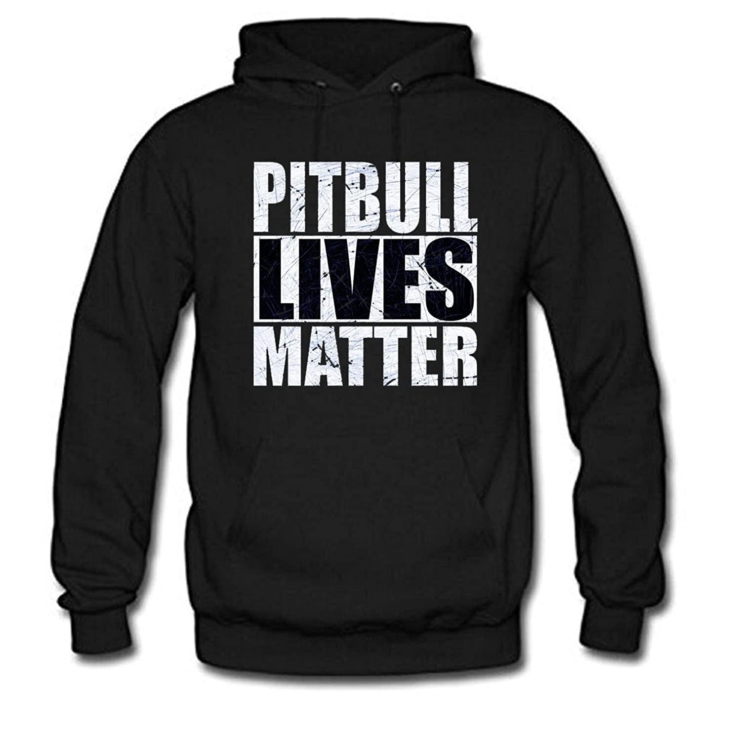 New PITBULL LIVES MATTER Men's Long Sleeve Casual Hoodie free shipping