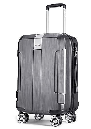 SHAIK® ICEBERG, SFO equipaje de mano Tamaño M candado de TSA de 32 litros (Negro): Amazon.es: Equipaje
