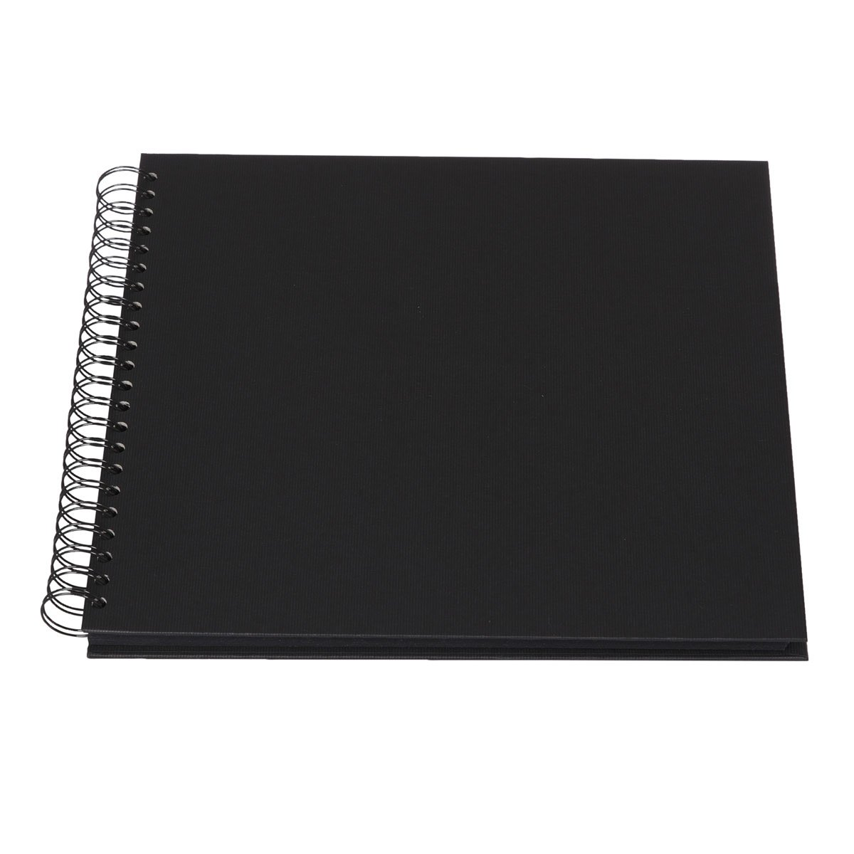 Rossler Soho 290 x 290mm Wiro Bound Photo Album - Black (60 Sheets)