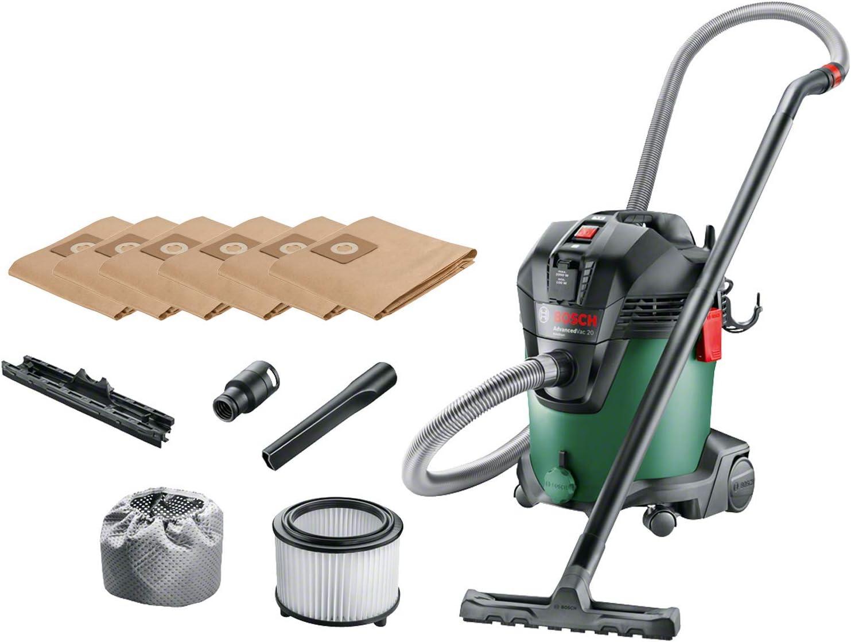 Bosch 06033D1200 aspiradora verde + Bosch 2609256F33 Bolsa de Papel: Amazon.es: Bricolaje y herramientas