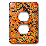 3dRose Danita Delimont - Artwork - Dragon Decoration, Forbidden City Emperors Palace, Beijing, China - Light Switch Covers - 2 plug outlet cover (lsp_257107_6)