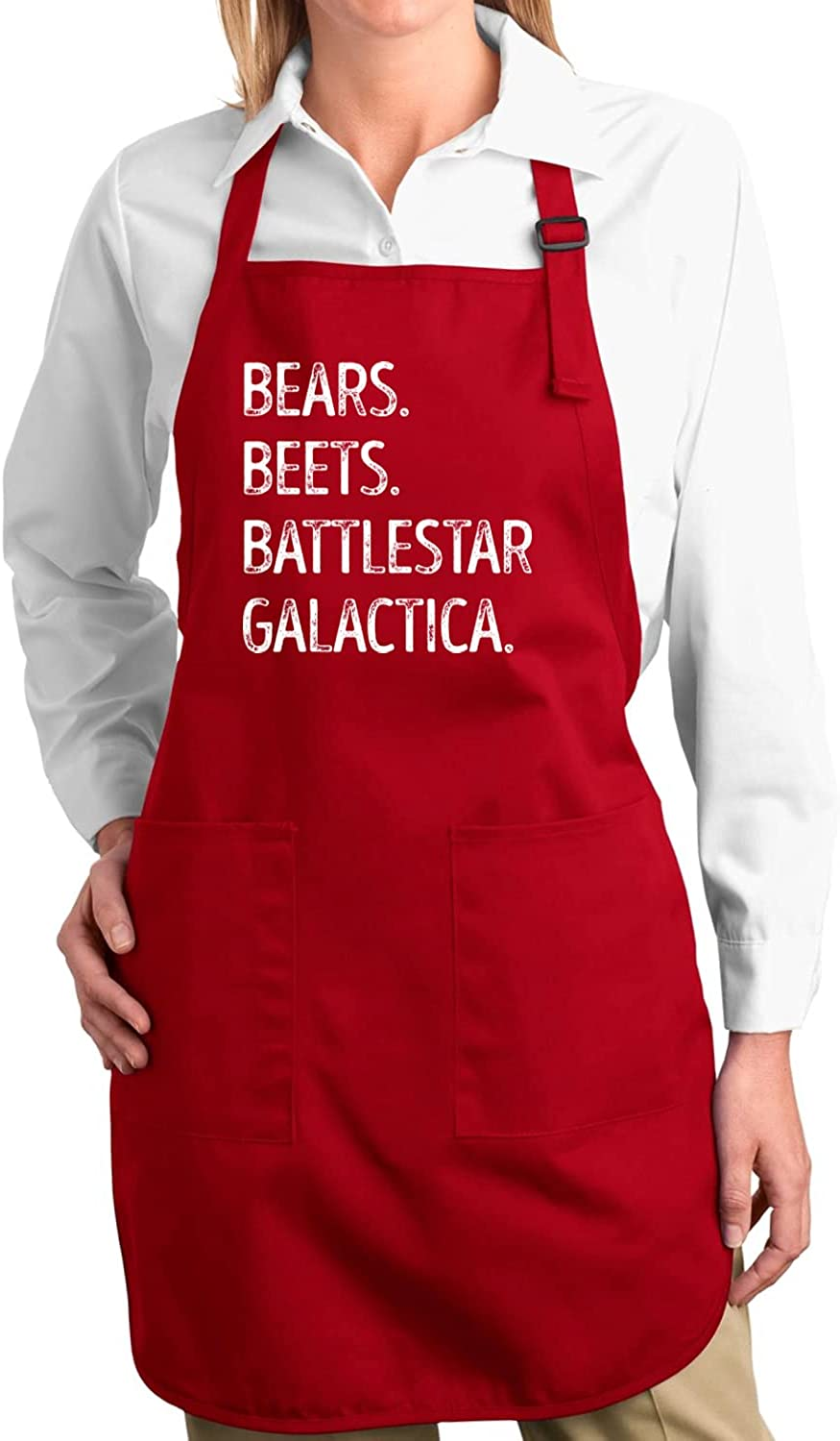 Wild Bobby Bears Beets Fact Battlestar Galactica Office Quote Kitchen BBQ Grilling Cooking Graphic Apron with Pockets