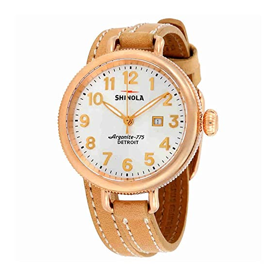 8dbcaf00b13 Image Unavailable. Image not available for. Color  Shinola The Birdy Silver  Dial Rose Gold PVD Ladies Watch 11000256