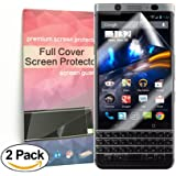 Blackberry Keyone full Coverage Screen Protector Anti-Bubble [2 Pack],Rapidest HD Ultra Clear TPU Film Curved Edge to Edge Screen Protector for Blackberry Keyone