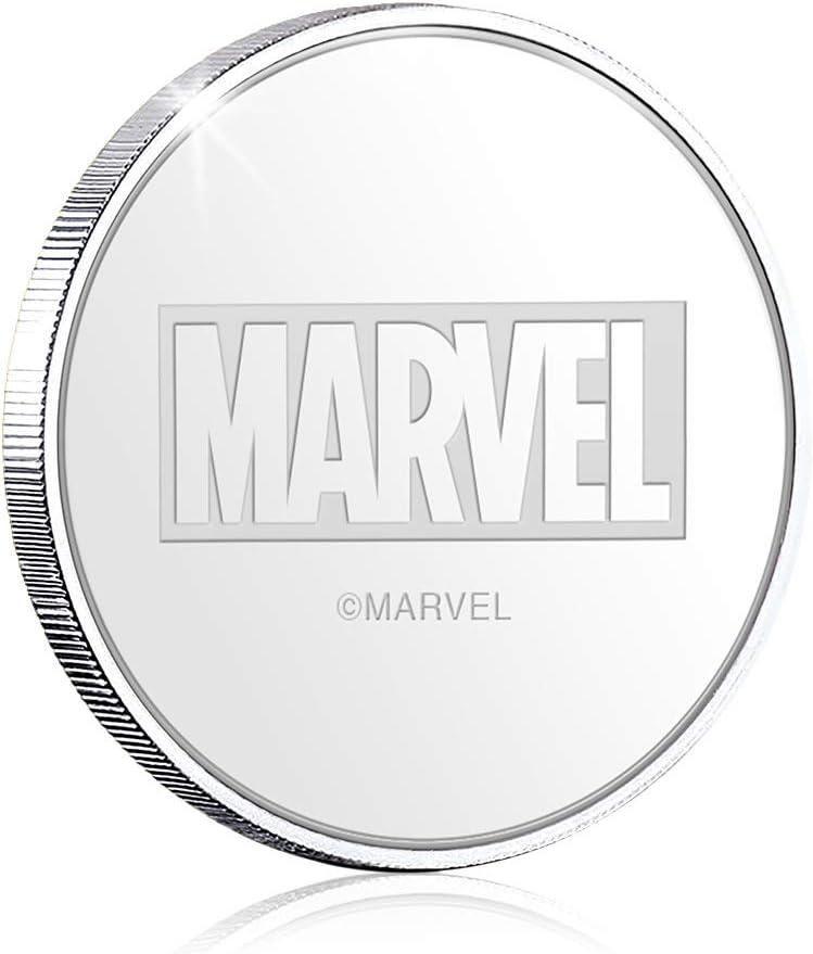 Medalla Oficial acu/ñada en Plata Pura .999 presentada en Blister Coleccionista 32mm Moneda IMPACTO COLECCIONABLES Marvel Los Vengadores Endgame