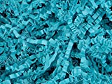 Pack of 1, Teal Crinkle Cut Paper Shred 40 Lb Spring-Fill Shred for Baskets, Basket Boxes, Bags, Containers & Nested Boxes