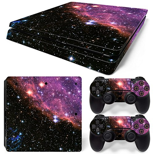 Gam3Gear Vinyl Decal Protective Skin Cover Sticker for PS4 Slim Console & Controller (NOT for PS4 or PS4 Pro) - Galaxy