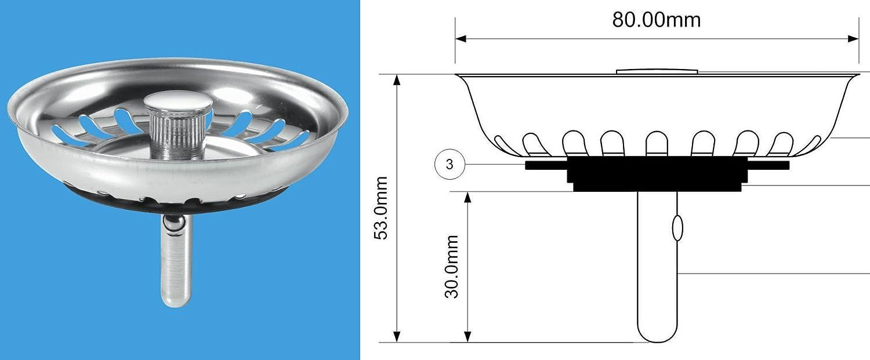 mcalpine basket strainer waste plug stemball model amazon co uk rh amazon co uk