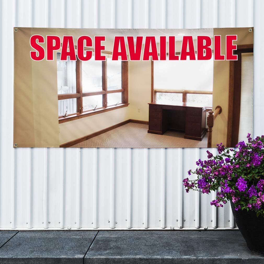 One Banner Multiple Sizes Available 8 Grommets 48inx96in Vinyl Banner Sign Space Available Business Space Available Marketing Advertising Red
