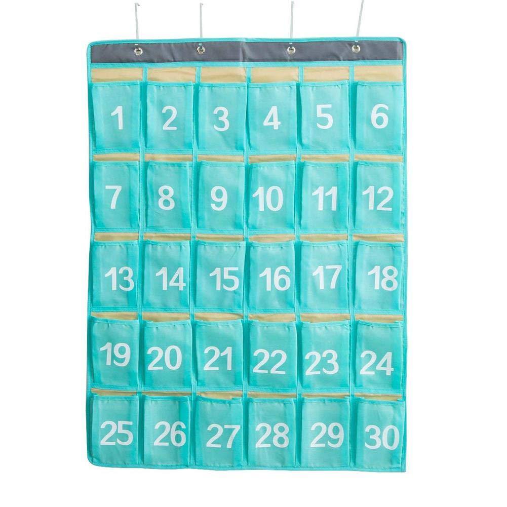 30 estantes Oxford Cloth Custody Organizador Colgante para Puerta o Aula favourall
