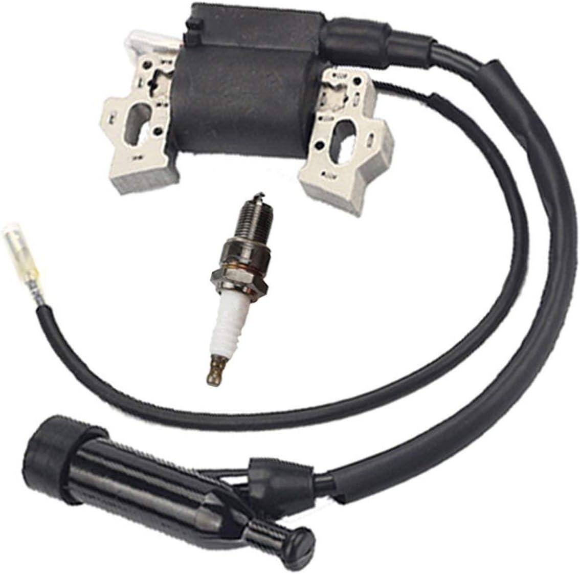 Amazon.com : Buckbock Ignition Coil for Honda Gx240 Gx270 Gx340 Gx390 8hp  9hp 11hp 13hp Engine Lawn Mower Tractor Generator w/Spark Plug : Garden &  OutdoorAmazon.com
