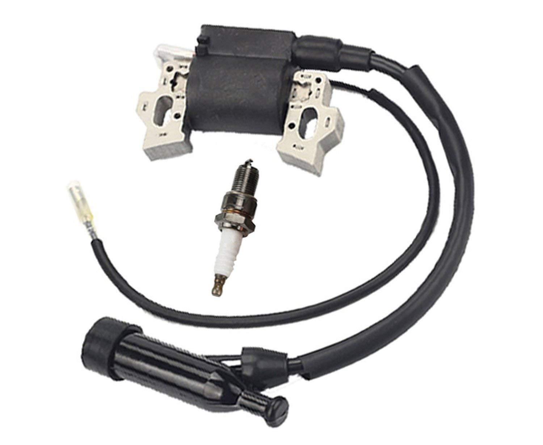 Buckbock Ignition Coil for Honda Gx240 Gx270 Gx340 Gx390 8hp 9hp 11hp 13hp Engine Lawn Mower Tractor Generator w/Spark Plug by Buckbock