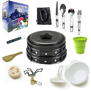 Amazon.com: Kit de cocción para acampada, mochilero ...