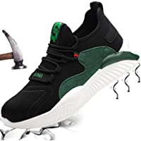 Zapatos de Seguridad Hombre Mujer Zapatillas Zapatos de Trabajo con Puntera de Acero Zapatos de Industrial Ligero…