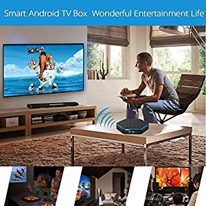 WISEWO Android 7.1 TV Box Amlogic S912 Octa Core Speed 3GB/32GB Dual Wifi 4K2K Smart Mini PC Media Player with Backlit Wireless Touchpad Mini Keyboard