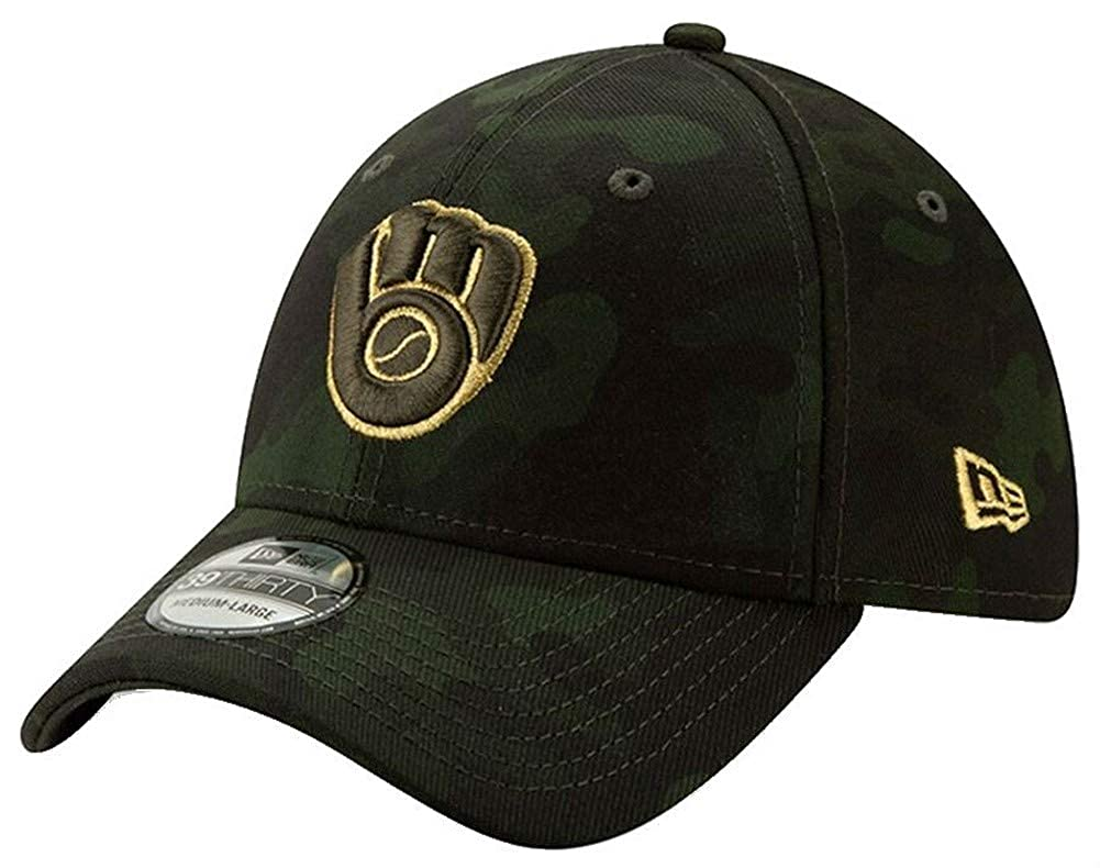 reputable site c5145 2102f New Era 2019 MLB Milwaukee Brewers Hat Cap Armed Forces Day 39Thirty  12039520 at Amazon Men s Clothing store