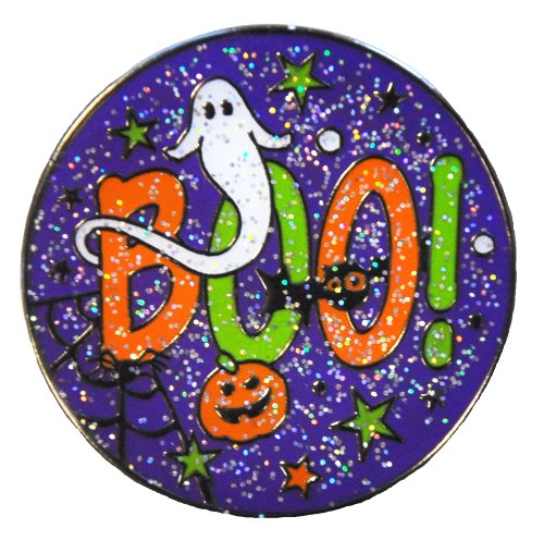 Navika Glitzy BOO Ball Marker with Magnetic Hat Clip - HALLOWEEN GOLF!!