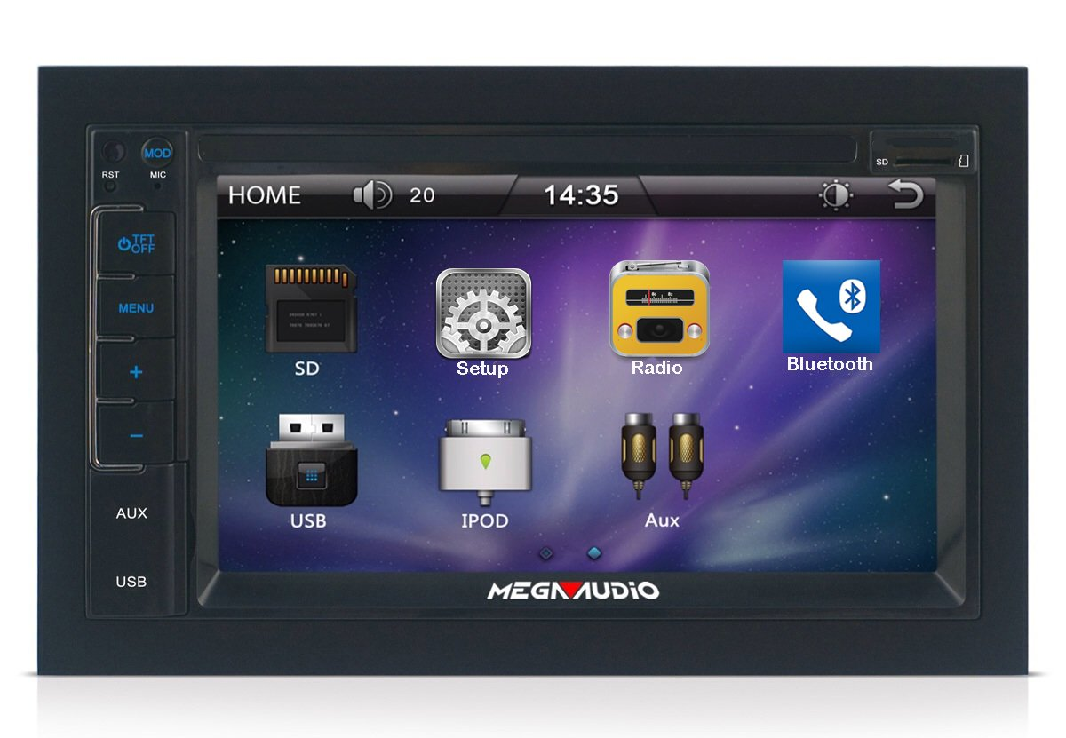 """MEGAAUDIO MAR-8360 Car MP5 Double Din 7 Touch Screen With Bluetooth"""":  Amazon.in: Car & Motorbike"""