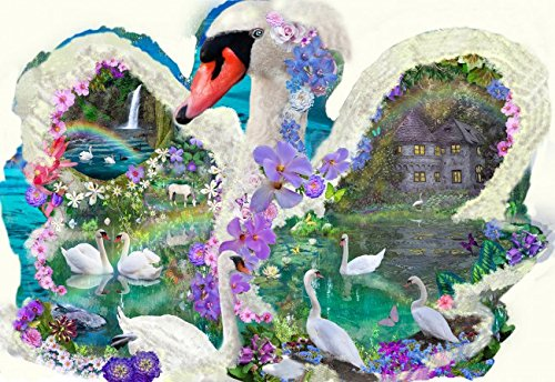 Swan Dreams 1000 pc Jigsaw Puzzle