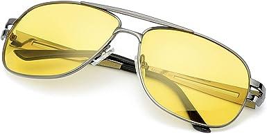 Protection 100/% UVA UVB SODQW Lunette de Conduite Vision de Nuit Anti Eblouissement Polaris/ée Jaune anti-/éblouissement Lunettes