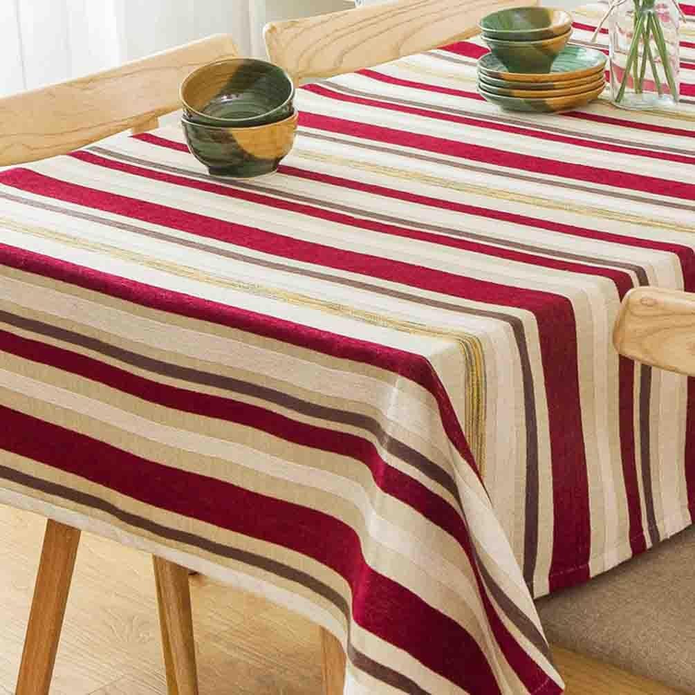 Xiaowu Moderne einfache Streifen Tischdecke Wohnzimmer Couchtisch Hotel Restaurant Rechteckige Tischdecke, 003, 130  130cm B07BNSH8BR Tischdecken Moderate Kosten  | Mittel Preis