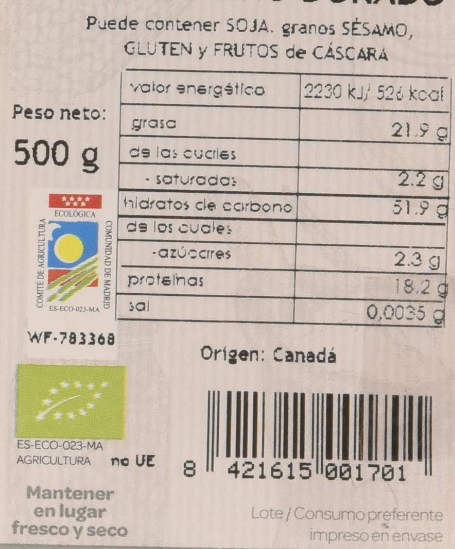 Horno de Leña Semilla De Lino Dorada Eco, 500 g, Pack de 1: Amazon ...