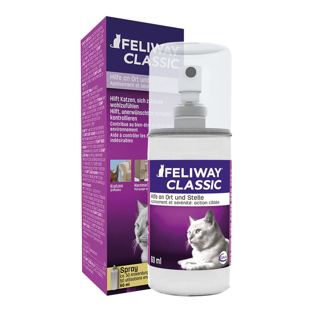 Feliway Spray (60ml) - Synthetic carming spray, Comforts & Reassures Cats in New Homes by William Hunter Equestrian