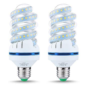 2x E27 15W LED Gl/ühbirne Kaltwei/ß 6000K 1520 Lumen Ersetzt 100W Gl/ühlampe Leuchtmittel Energiesparlampe 2er Pack