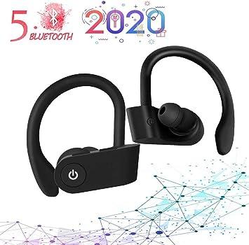 AMZY Auriculares Bluetooth Deportivos, TWS Auriculares Inalambricos Bluetooth 5.0 Impermeables IPX5,Estéreo Auricular,Audífonos Bluetooth 5.0 con