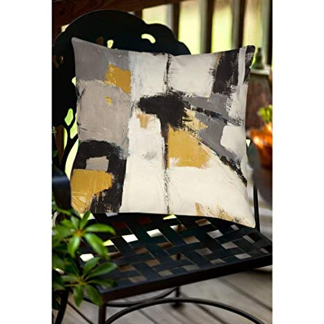 Super Amazon Com Hnu 20 X 20 Fun Throw Pillows Yellow Grey Bralicious Painted Fabric Chair Ideas Braliciousco