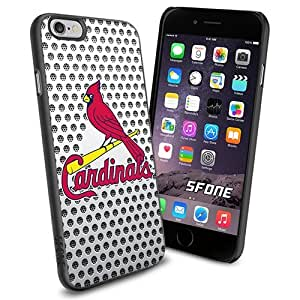 St. Louis Cardinals MLB Whitenet Logo WADE6343 Baseball iPhone 6 4.7 inch Case Protection Black Rubber Cover Protector