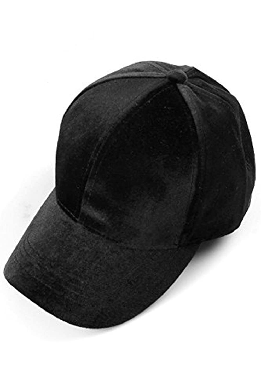 Unisex Ponytail Cap Messy Soft Velvet Baseball Cap Ponycap Adjustable Hat  (Black) at Amazon Women s Clothing store  7866262fa3e6