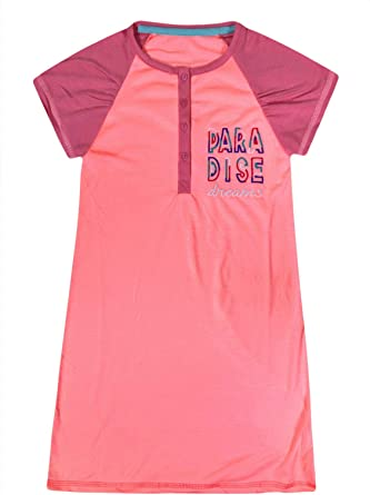 jolly rascals Girls Nightdress in Cotton Blend with Crew Neck and Short Sleeves Machine Washable