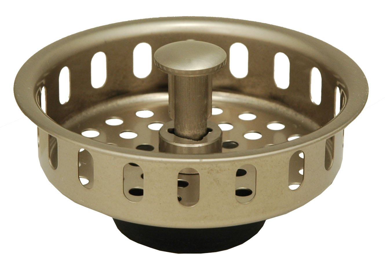 Stainless Steel Replacement Basket for Kitchen Sink, Satin Nickel Finish - By Plumb USA