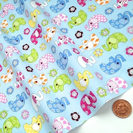BUNNIES,TEDDY BEAR NURSERY fabric 100/% cotton poplin//PER METRE// BABY GIRL,PINK