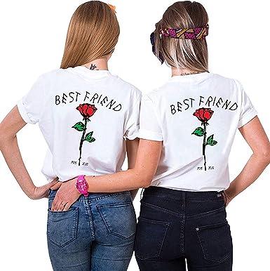 Daisy for U Dos Damas Mejores Amigas Hermanas Camisetas Tops Divertidos Tops de Verano BFF Regalo de cumpleaños 1 Pieza Que simboliza la Amistad: Amazon.es: Ropa y accesorios