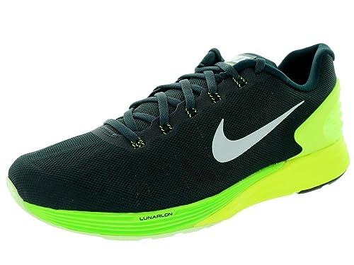 Nike Lunarglide 6, scarpe da corsa da uomo, Uomo, Seaweed / White /