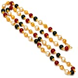 Pink City Gold Plated Crystal Pearl Mala for Women