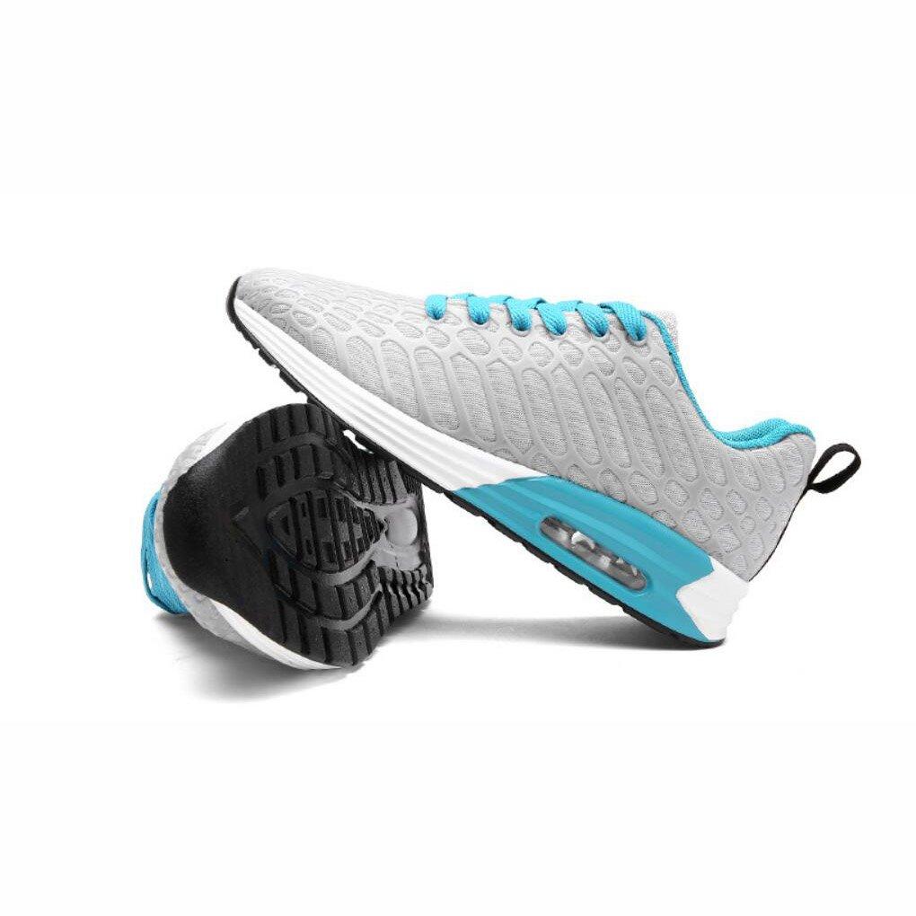 Herren Wanderschuhe, Student Turnschuhe Paar Schuhe, Damenschuhe, Koreanische Version Trend Luftpolster Atmungsaktives Mesh Casual Sportschuhe, (Farbe : B, Größe : 35)